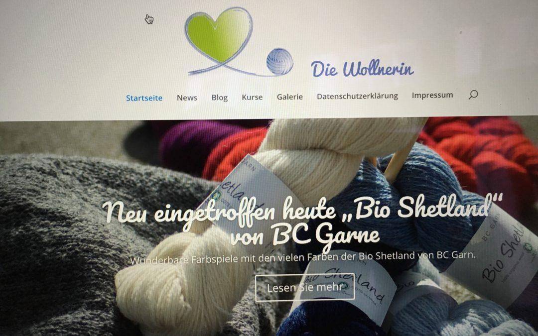 Die Wollnerin hat eine neue Website